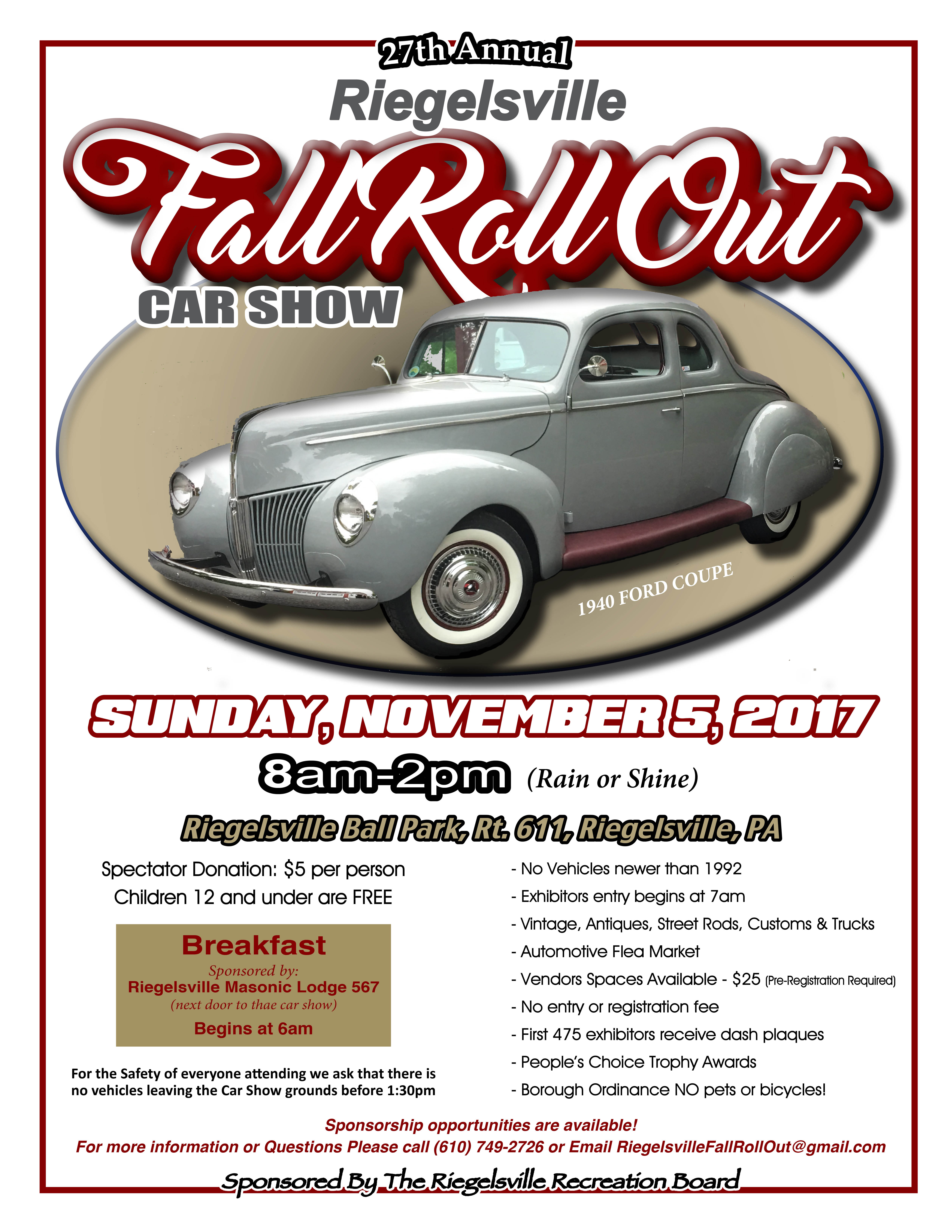 Fall Rollout Car Show | Borough of Riegelsville